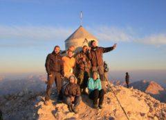 No topo de Triglav