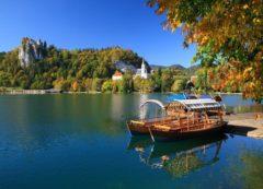 Lago e da ilha de Bled